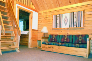 Cabin interior at Double JJ Resort.