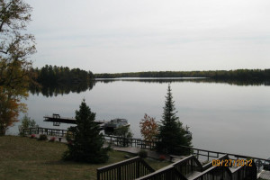 Lake view at Deer Ridge Resort.