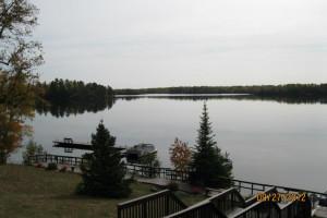 Lake view at Deer Ridge Resort.