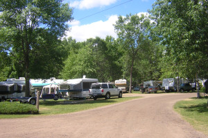 RV park at Sullivans Resort & Campground.