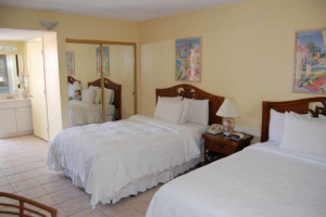 Guest room at Bayside Inn Key Largo.