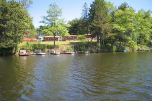 Exterior view of Watersmeet Resort.