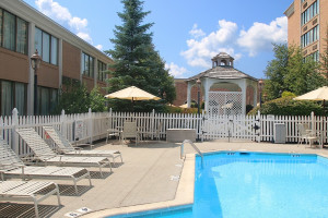 Outdoor pool at Ethan Allen Hotel.