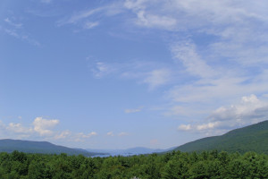 Mountain view at Travelodge Lake George.