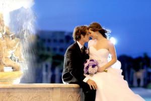 Wedding couple at North Beach Plantation.
