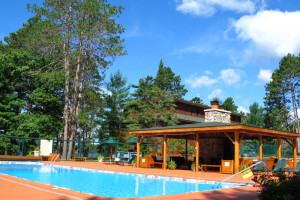 Outdoor pool at Chippewa Retreat Resort.