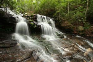 Waterfall near Mountain Vista Rentals.
