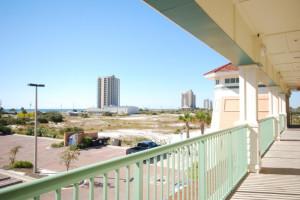 Balcony view at Villagio on Perdido Key.
