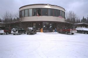 Exterior view of Falcon Lake Resort Hotel.