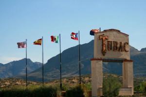 Outdoor sign at Tubac Golf Resort.