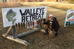 Fishing at Walleye Retreat.
