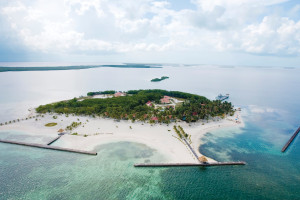 Aerial view of Turneffe Island Resort.