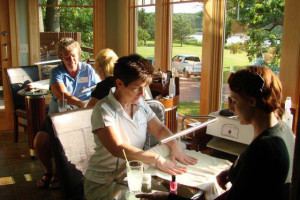 Manicure at Madden's on Gull Lake.