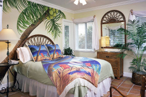 Guest room at Crane's Beachhouse.