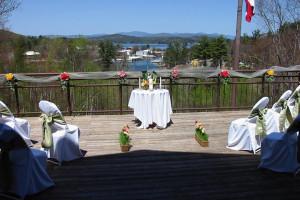 Wedding ceremony at Summit Resort.