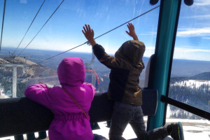 Skiing at Hummingbird Cabins.