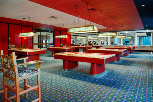 Game room at Poconos Palace from Cove Haven Entertainment Resorts.