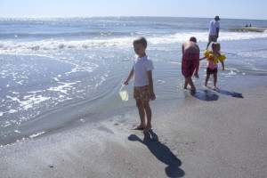 Kids On Beach at Holiday Sands Resort
