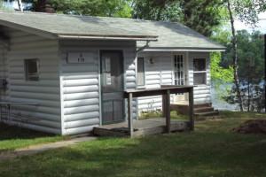 Cabin exterior at Minnewawa Lodge.