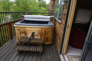 Vacation rental hot tub at SkyRun Vacation Rentals - Summit County, Colorado.