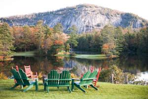 Lake view at High Hampton Inn & Country Club.