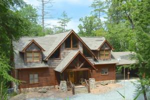 Cabin exterior at Mountain Getaway Cabin Rentals.