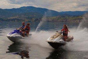 Jet skis at Summerland Waterfront Resort.