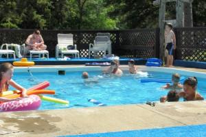 Outdoor pool at Cedarwild Resort.