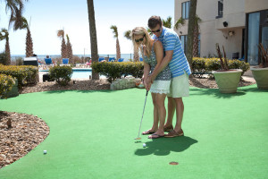 Mini golf at The Palace Resort.