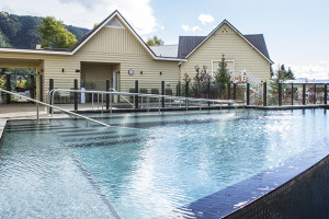 Outdoor pool at Jackson Hole Lodge.