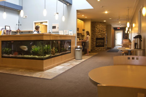 The lobby at Weathervane Inn.