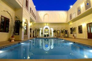 Outdoor pool at Raj Palace.