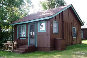 Cabin exterior at Northland Lodge Resort.
