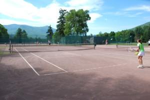 Tennis court near Town Square Condominiums.