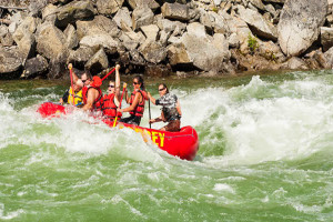 Rafting near Obertal Inn.