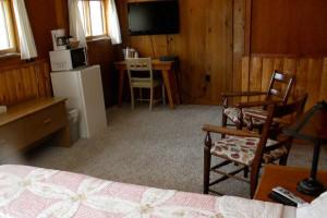 Cabin interior at Trail Shop Restaurant and Inn.