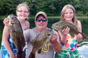 Family fishing at Recreational Rental Properties, Inc.