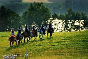 Horseback riding at Black Diamond Vacation Rentals.