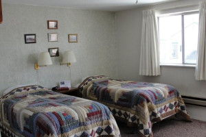 Double guest room at Elk City Hotel.