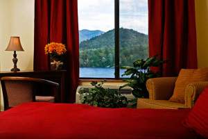 Guest room at Lake Placid Summit Hotel Resort Suites.