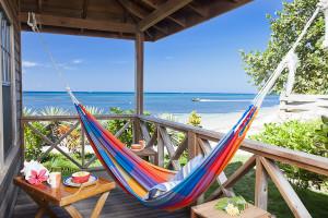 Beach view at Las Rocas Resort.