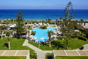 Outdoor pool at Sheraton Rhodes Resort.