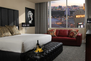 Guest room at Westgate Las Vegas Resort & Casino.