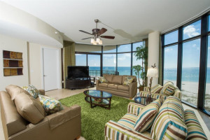 Vacation rental living room at Luxury Coastal Vacations.