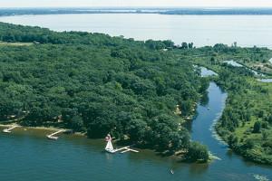 Aerial view of Samara Point Resort.