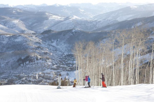 Family skiing at The Charter at Beaver Creek.
