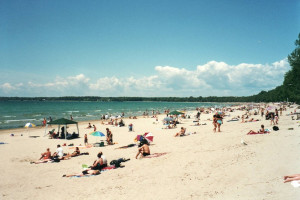 The beach at Cherry Beach Resort.