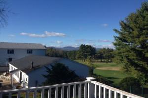 Balcony view at Windrifter Resort.