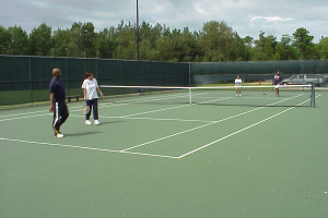 Tennis at Drummond Island Resort.