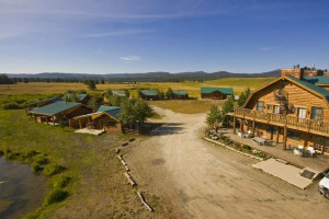 Aerial view of Bar N Ranch.